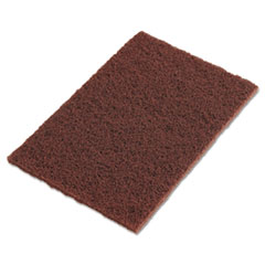 "3M™ Scotch-Brite Hand Pads, Brown, 9"" x 6"""