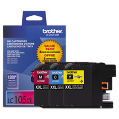 Brother LC1053PKS Innobella Super High-Yield Ink, 1200 Page-Yield, Cyan/Magenta/Yellow