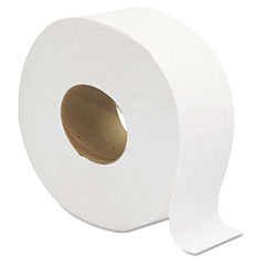 "Jumbo JRT Bath Tissue, Septic Safe, 2-Ply, White, 3 1/4"" x 720 ft, 12 Rolls/Carton"
