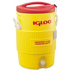 Igloo® Industrial Water Cooler, 5 gal, Yellow/Red
