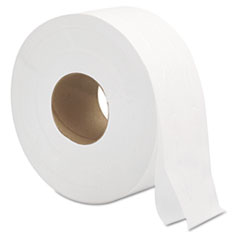 "General Supply Jumbo Roll Bath Tissue, Septic Safe, 2-Ply, White, 3.3"" x 700 ft, 12/Carton"