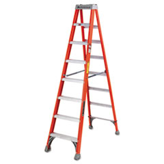 Louisville® FS1500 Series Fiberglass Step Ladder FS1508, 8 ft Working Height, 300 lbs Capacity, 5 Step, Red