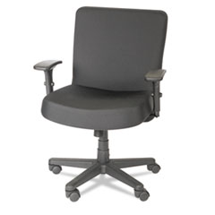 Alera® Alera XL Series Big and Tall Mid-Back Task Chair, Supports up to 500 lbs., Black Seat/Black Back, Black Base