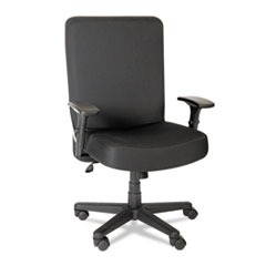 Alera® Alera XL Series Big and Tall High-Back Task Chair, Supports up to 500 lbs., Black Seat/Black Back, Black Base