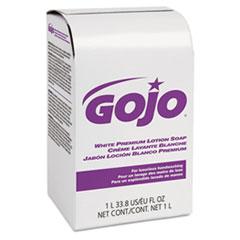 GOJO® White Premium Lotion Soap, Spring Rain Scent, NXT 1000 mL Refill, 8/Carton