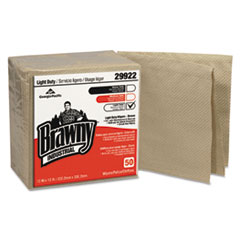 Georgia Pacific® Professional Brawny Industrial 3-Ply Paper Wipers, Quarterfold, 13x13, Brown, 50/PK, 12/CT
