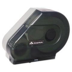 Georgia Pacific® Jumbo Jr. Dispenser w/Stub Roll/Mandrel, 6.38 x 16.88 x 14.13, Smoke/Gray, 4/CT