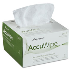 Georgia Pacific® Professional AccuWipe Recycled One-Ply Delicate Task Wipers, 4 1/2 x 8 1/4, White, 280/Box