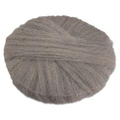 "GMT Radial Steel Wool Pads, Grade 2 (Coarse): Stripping/Scrubbing, 17"", Gray, 12/CT"