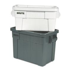 "Rubbermaid® Commercial Brute Tote Box, 20 gal, 27.88"" x 17.38"" x 15.13"", Gray"