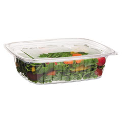 Eco-Products® Renewable and Compostable Rectangular Deli Containers, 48 oz, 50/Pack, 4 Packs/Carton