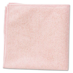 Rubbermaid® Commercial Microfiber Cleaning Cloths, 16 x 16, Pink, 24/Pack