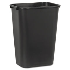 Boardwalk® Soft-Sided Wastebasket, 41 qt, Plastic, Black