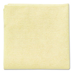 Rubbermaid® Commercial Microfiber Cleaning Cloths, 16 x 16, Yellow, 24/Pack