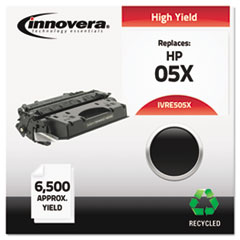 Remanufactured CE505X (05X) High-Yield Toner, 6500 Page-Yield, Black