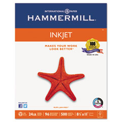 Hammermill® Inkjet Paper, 96 Brightness, 24lb, 8 1/2 x 11, White, 500 Sheets/Ream