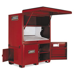 "JOBOX® Heavy-Duty Field Office, 63"" x 42"" x 80"", Steel, Red"