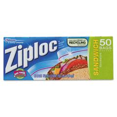 Ziploc® Resealable Sandwich Bags, 6 1/2 x 5 7/8, 1.2 mil, Clear, 40/Box DVOCB711398BX