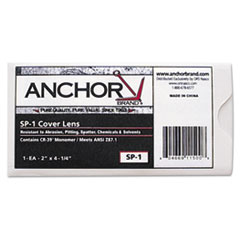 """Anchor Brand® Replacement Cover Lens, 2"""" x 4 1/4"""", Clear, Plastic"""