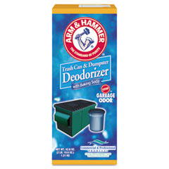 Arm & Hammer™ Trash Can and Dumpster Deodorizer with Baking Soda, Sprinkle Top, Original, Powder, 42.6 oz Box, 9/Carton