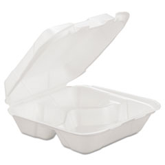 GEN Foam Hinged Carryout Containers
