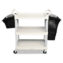 Xtra Utility Cart, 300-lb Capacity, Three-Shelf, 20w x 40.63d x 37.8h, Gray