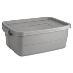 Rubbermaid® Roughneck Storage Box, 10 gal, Steel Gray