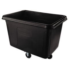 Rubbermaid® Commercial Cube Truck, Rectangular, 500 lb Capacity, Black