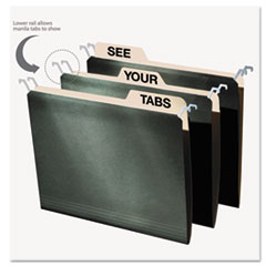 find It™ Hanging File Folders with Innovative Top Rail