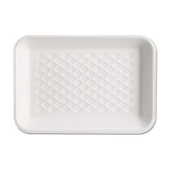 Genpak® Supermarket Tray, Available West of the Rockies Only, 5.75 x 8.25 x 1. White, 125/Bag, 4 Bags/Carton