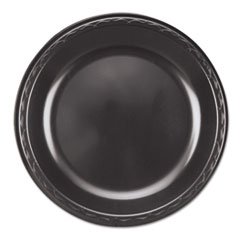 "Genpak® Elite Laminated Foam Plates, 10 1/4"" Dia, Black, Round, 125/ Pack, 4 Pack/Carton"