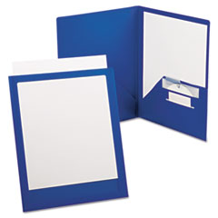 Oxford™ ViewFolio Plus Polypropylene Portfolio, 50-Sheet Capacity, Blue/Clear