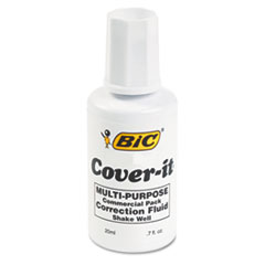 BIC® Cover-It Correction Fluid, 20 ml Bottle, White