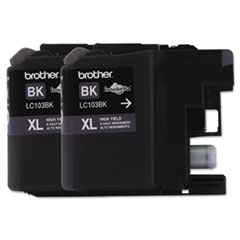 Brother LC1032PKS Innobella High-Yield Ink, 600 Page-Yield, Black, 2/Pack
