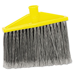 """Rubbermaid® Commercial Replacement Broom Head, Gray, 10.5"""" x 8.5"""", Polypropylene"""