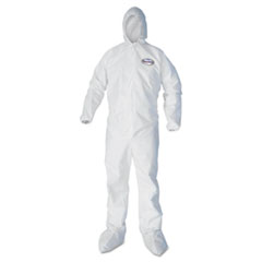 KleenGuard* A30 Breathable Splash/Particle Protection REFLEX Coveralls, White, 3XL,21/Ct KCC46126