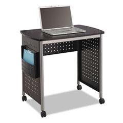 """Safco® Scoot Desk, 32.25"""" x 22"""" x 30.5"""", Black/Silver"""