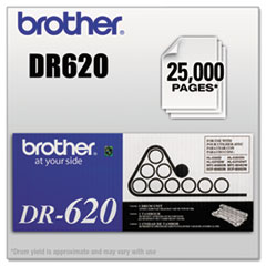 Brother DR620 Drum Unit, 25000 Page-Yield, Black