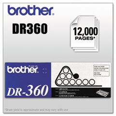 Brother DR360 Drum Unit, 12000 Page-Yield