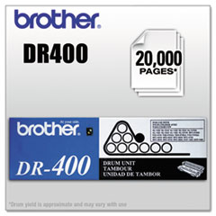Brother DR400 Drum Unit, 20,000 Page-Yield, Black