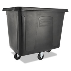 Rubbermaid® Commercial Cube Truck, 500 lb Capacity, Black