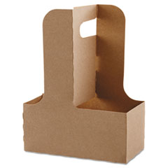 Dopaco® Cup Carriers, 12-32oz, 2/4-Cup, 250/Carton