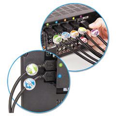 Dotz® Cord Identifier Kit, 12 Regular/12 Jumbo Clear IDs, Inserts & Stickers