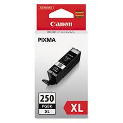 Canon® 6432B001 (PGI-250XL) ChromaLife100+ High-Yield Ink, 500 Page-Yield, Black