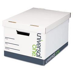 Extra-Strength Storage Box, Letter/Legal, 12 x 15 x 10, White, 12/Carton