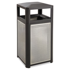 Safco® Evos Series Steel Waste Container, 38 gal, Black