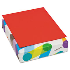 Mohawk BriteHue Multipurpose Colored Paper, 20lb, 8 1/2 x 11, Red, 500 Sheets
