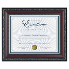 World Class Document Frame w/Certificate, Walnut, 8 1/2 x 11