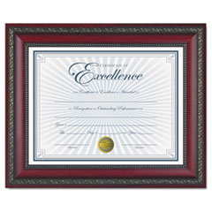 World Class Document Frame w/Certificate, Rosewood, 8 1/2 x 11
