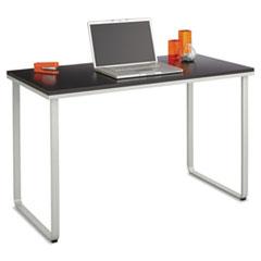 Steel Workstation, 47-1/4w x 24d x 28-3/4h, Black/Silver